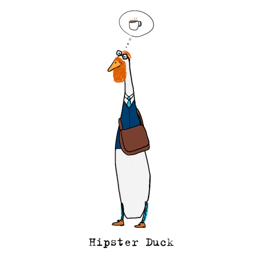Hipster duck