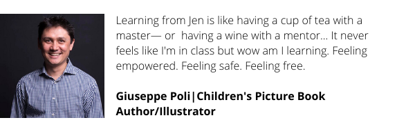 Step-by-straight-talking-step, Jen has helped me gain clarity and confidence, and provided a lot of laughs and friendships along the way, too - enriching both my creative and personal life... My kidlit career is now (1)